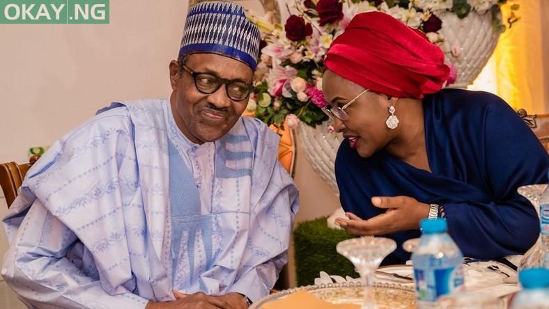 President Muhammadu Buhari and his wife, Aisha