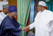 Photo of Buhari celebrates Ajimobi at 70
