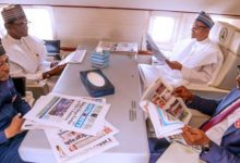 Photo of Buhari, three governors head to Egypt (Photos)
