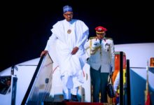Photo of Buhari arrives Egypt for Aswan Forum (Photos)