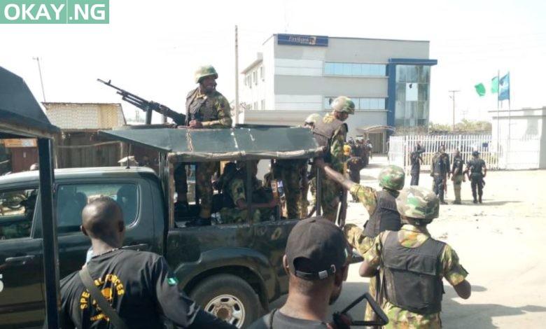 Scene of the failed robbery at Mpape, Abuja