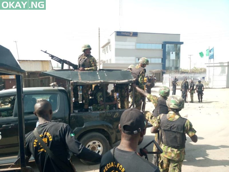 Scene of the failed robbery at Mpape, Abuja