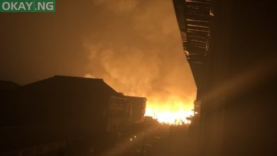 Photo of Nigerians react as fire guts Amu timber market in Mushin, Lagos