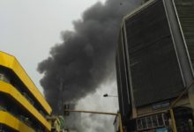 Photo of Another fire outbreak at Balogun market in Lagos