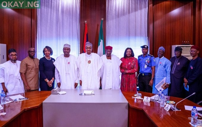 Photo of Buhari receives briefing from INEC chairman, IGP – Pictures