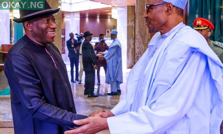Photo of Buhari, Jonathan meet in Aso Rock after security meeting