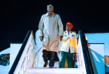 Photo of Buhari arrives in London to attend investment summit (Photos)