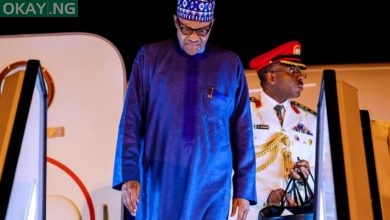 Photo of Buhari returns to Abuja after London trip [Photos]
