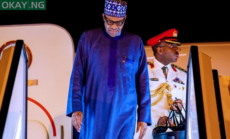 Photo of Buhari returns to Abuja after London trip [Photos]