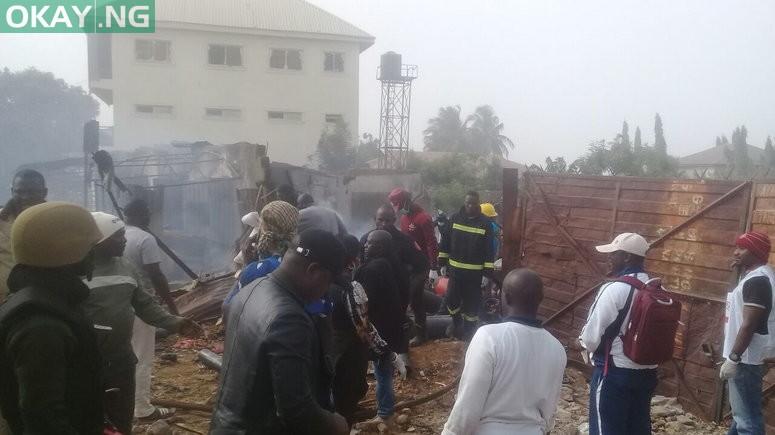 Scene of the Gas Explosion in Sabon Tasha, Chikun Local Government Area of Kaduna