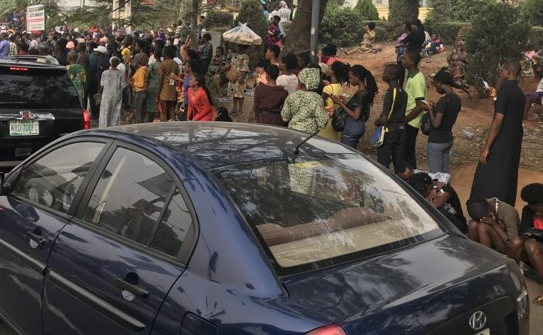 Photo of Ahead of 2020 UTME, JAMB candidates storm NIMC Lagos office for NIN (Pictures)