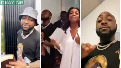 Photo of Davido's sister drags him to Church (Video)