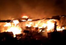 Photo of Fire guts Sabo Market in Sagamu, Ogun