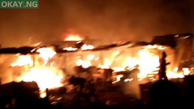 Photo of Fire guts Sabo Market in Sagamu, Ogun