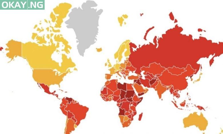 Photo of Nigeria ranks 146 on 2019 Transparency International's corruption index