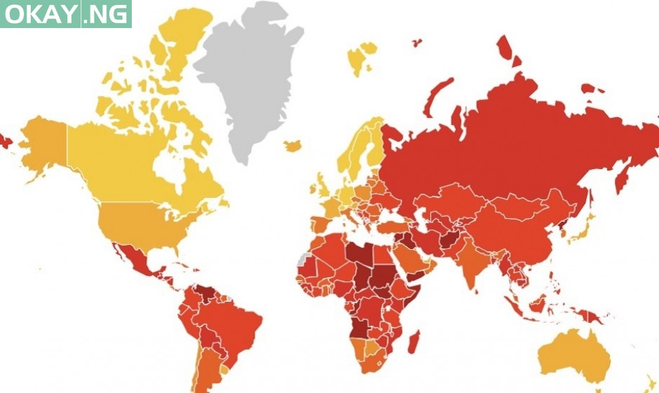 Nigeria ranks 146 on 2019 Transparency International's corruption index