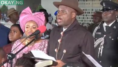 Photo of Douye Diri sworn in as Bayelsa State Governor