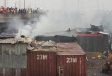 Photo of Lagos: Eight shops razed as fire guts Apongbon market