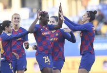 Photo of Nigeria's Asisat Oshoala scores hat-trick for Barcelona Women