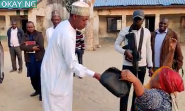 Photo of Gov Zulum surprises dedicated teacher with cash gift, promotes her