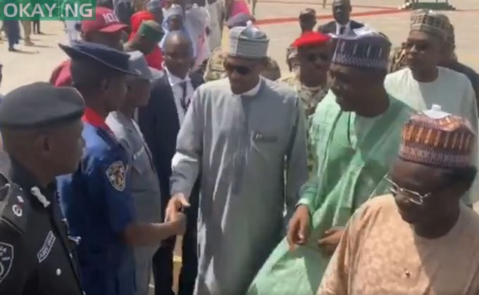 Photo of Buhari lands in Maiduguri to sympathise with Boko Haram victims