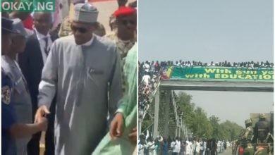 Photo of Angry Maiduguri residents boo Buhari on condolence visit (Video)