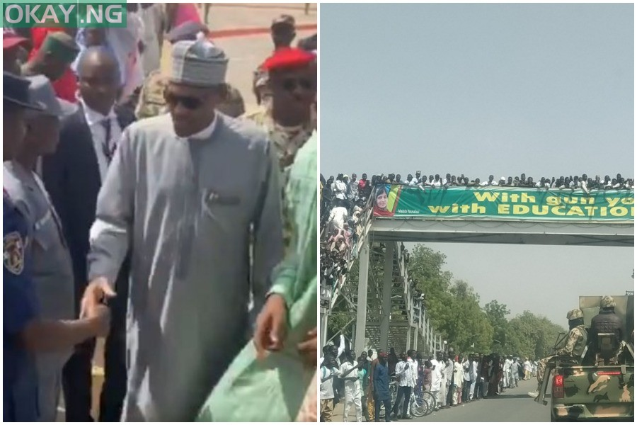 Photo of Angry Maiduguri residents boo Buhari on condolence visit (Video)