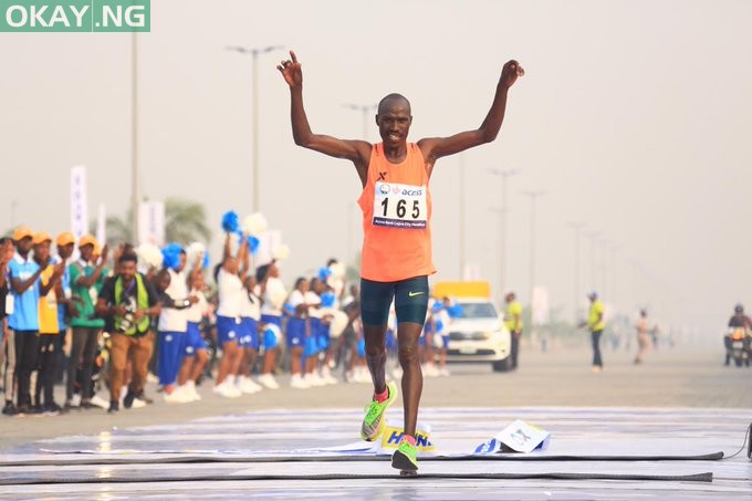 Photo of Kenya's David Barmasai Tumo wins 2020 Lagos City Marathon