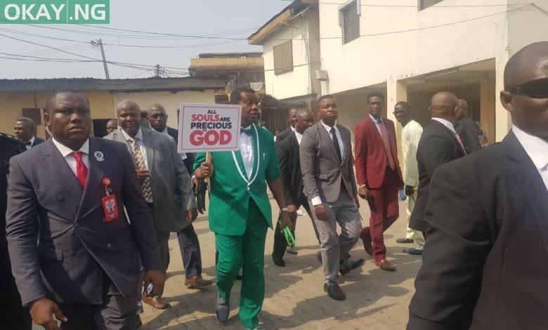 Photo of Pastor Adeboye leads 'RCCG walk' against insecurity in Nigeria (Video)