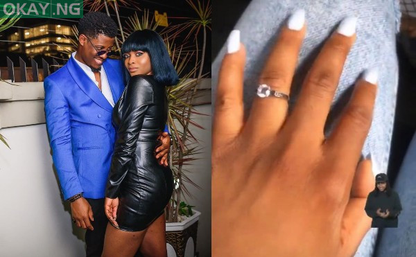 Photo of Ex-BBNaija star, Seyi Awolowo engaged to girlfriend, Adeshola [See Photos]