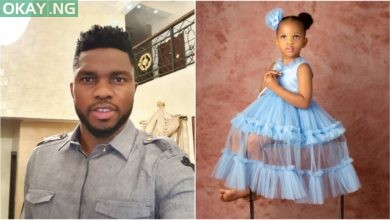 Photo of Joseph Yobo celebrates his daughter, Lexine as she turns 3 years old