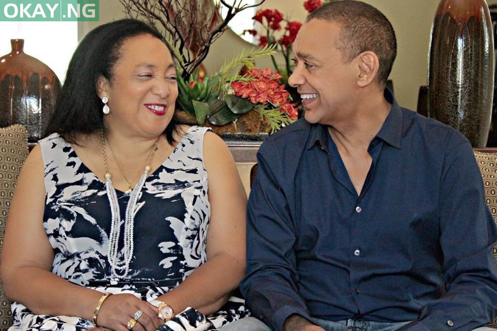 Ben Murray-Bruce and his late wife, Evelyn