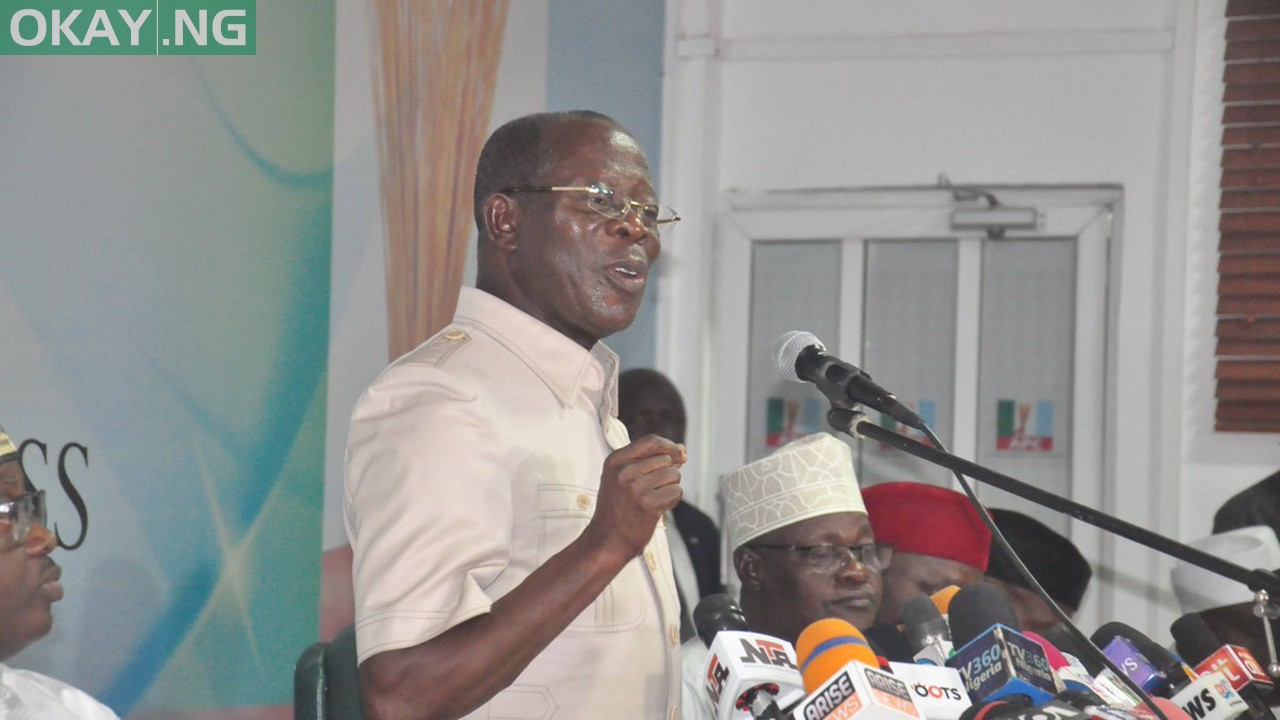 Photo of Oshiomhole's words at APC NWC meeting on Tuesday