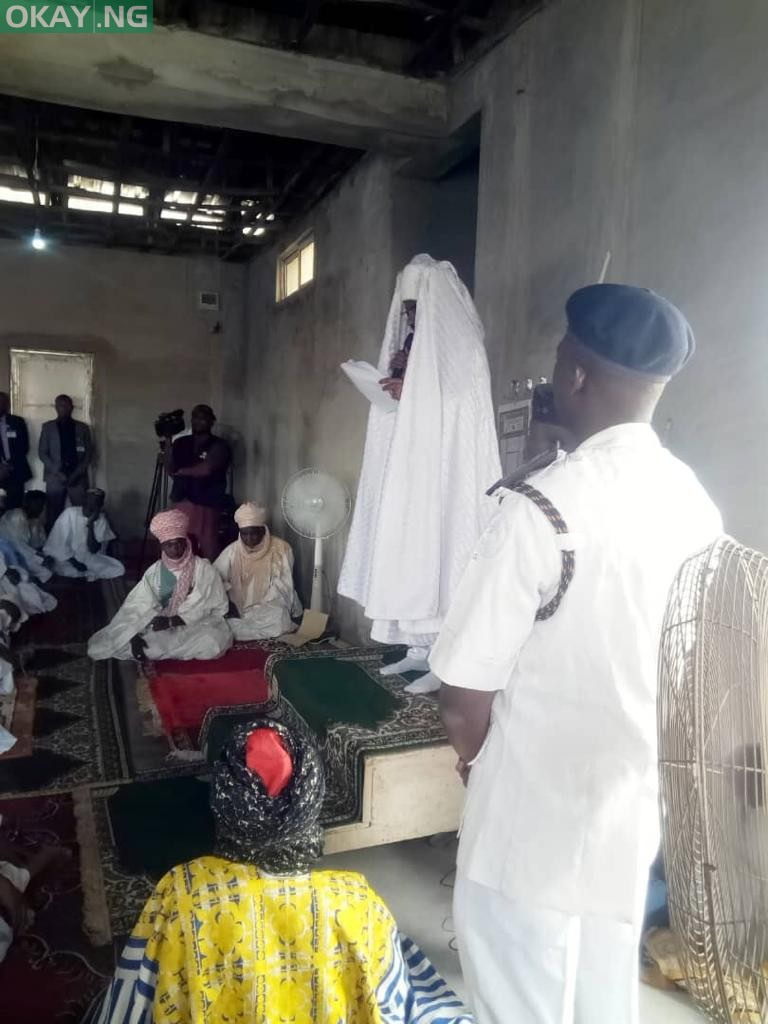 Photo of Dethroned Emir Sanusi leads Friday prayer in Awe, Nasarawa (Photos)