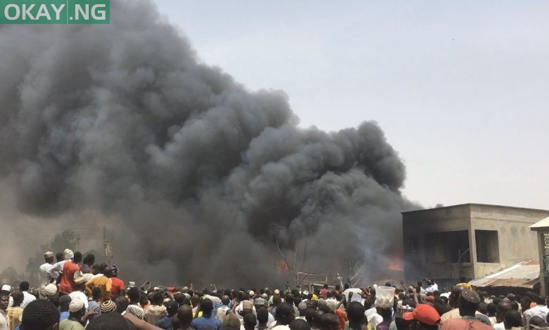 Photo of Fire outbreak at Muda Lawal market in Bauchi (Photos)