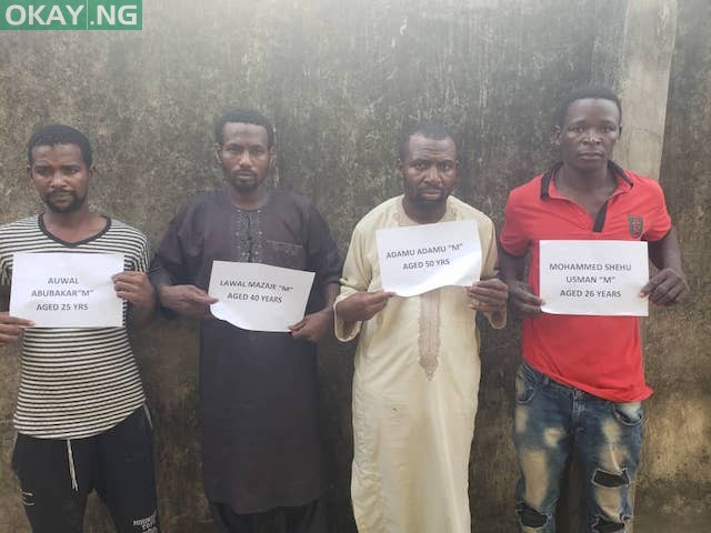 Photo of Faces of 4 suspects arrested for killing Funke Olakunrin (Photo)