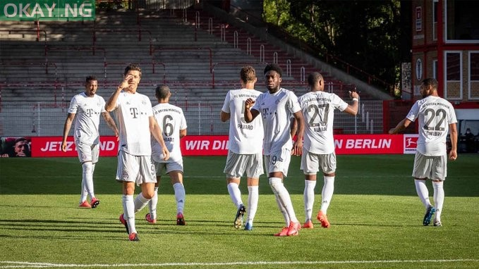 Photo of Bayern Munich resume Bundesliga action with a 2-0 victory over Union Berlin