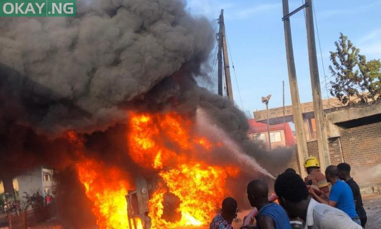 Photo of LASEMA gives update on fuel tanker fire incident in Obalende, Lagos