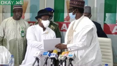 Photo of PHOTOS: Giadom hands over to Buni-led APC Caretaker committee