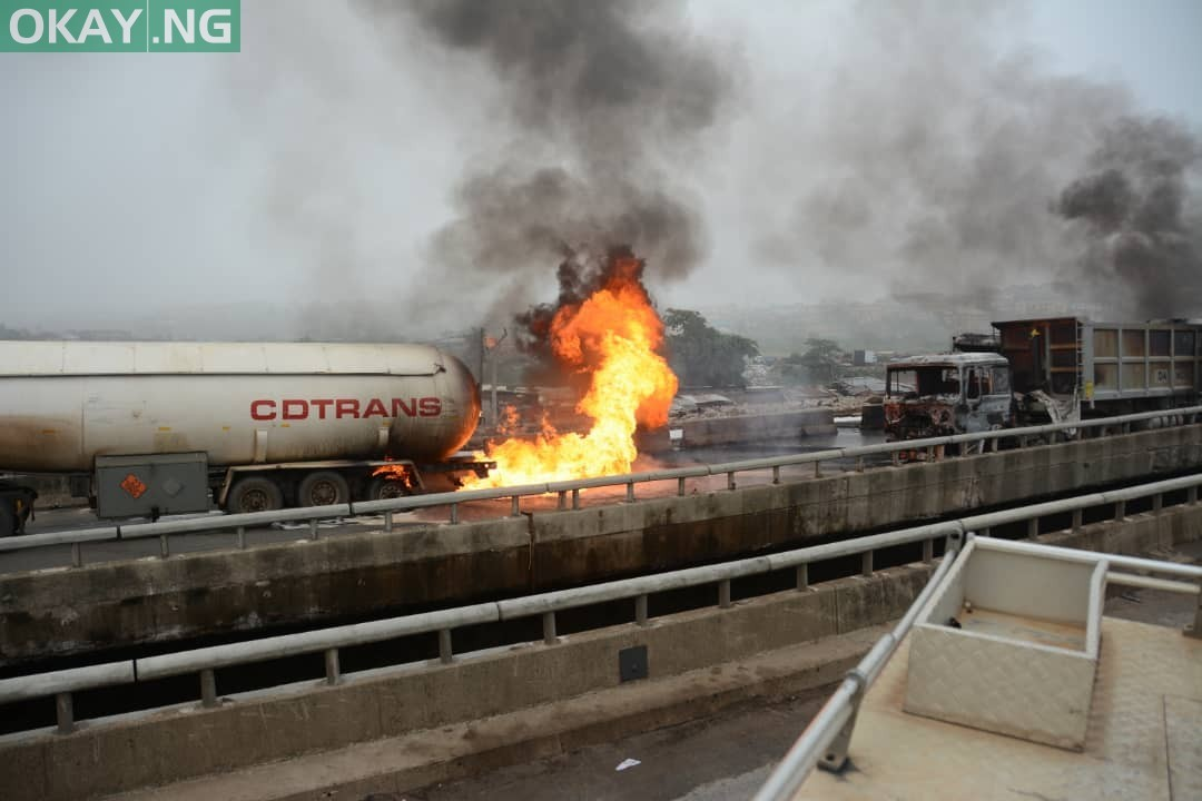 Photo of Photos: Scene of tanker explosion along Lagos-Ibadan Expressway