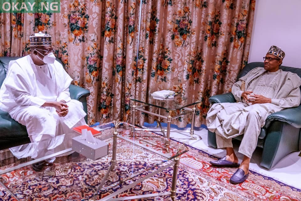 Photo of Lawan reveals details of meeting with Buhari