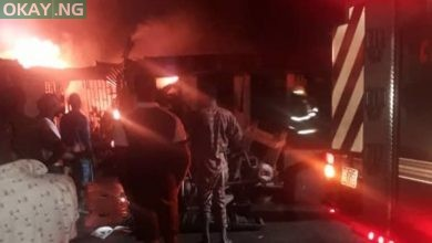 Photo of Lagos: Midnight fire guts Ajao Main Market, shops destroyed
