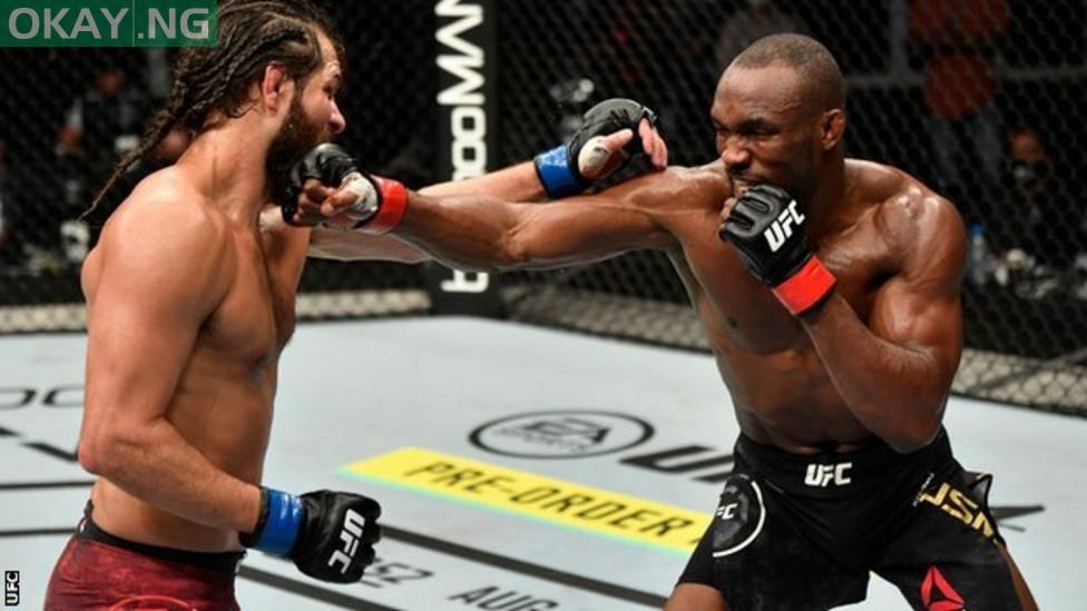 Photo of Nigeria's Kamaru Usman retains UFC welterweight title