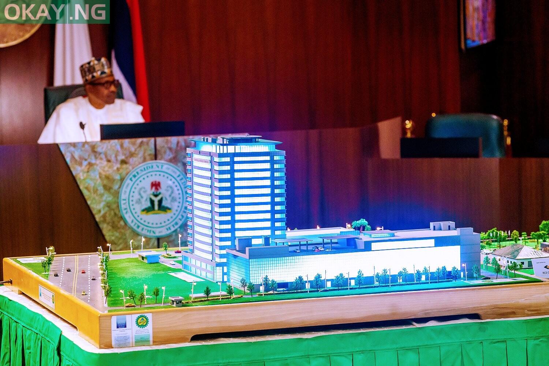 Photo of Buhari virtually commissions 17-storey NCDMB building