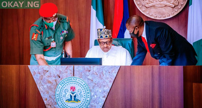 Photo of Buhari, North-East governors, security heads in closed-door meeting over Insecurity