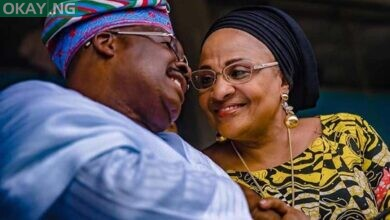Photo of Ajimobi's widow: My husband is in heaven