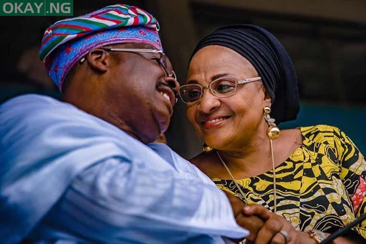 Photo of Ajimobi's widow: My husband is in heaven
