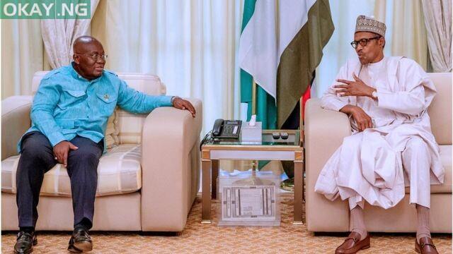 Ghanaian President, Nana Akufo-Addo and President Muhammadu Buhari