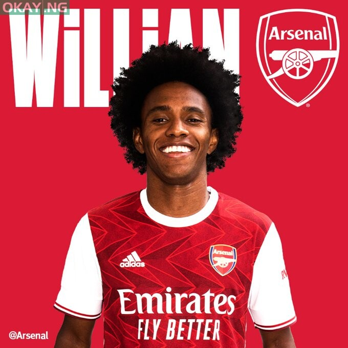 Arsenal completes singing of Willian from Chelsea • Okay.ng