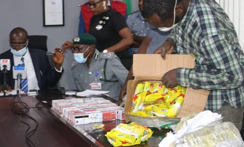 Photo of Man arrested with 2,886 ATM cards stashed in noodles' carton at Lagos Airport
